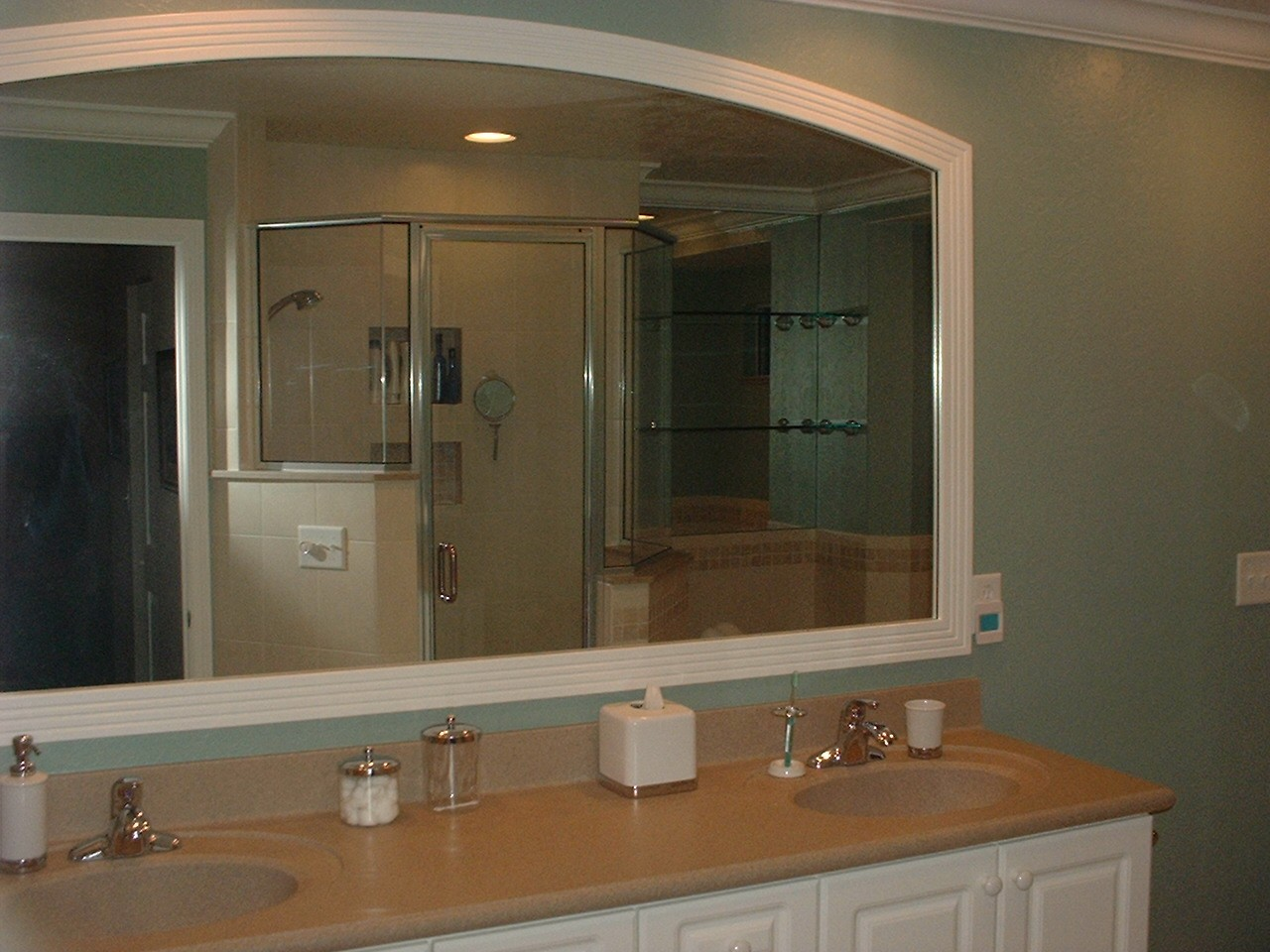 Lemon Bay Glass Englewood FL_Framed Mirror & Shower