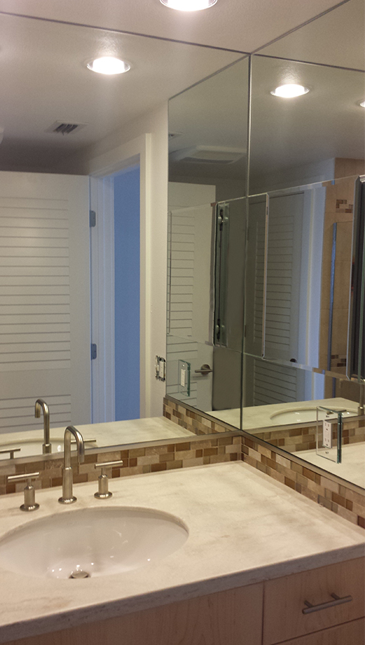 Lemon Bay Glass Englewood FL_Glass Tile Shower_Mirror Sink Surround