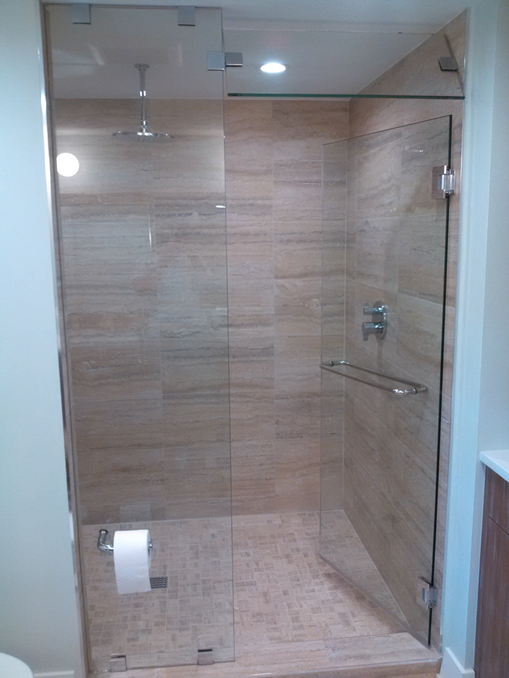 Lemon Bay Glass Englewood FL_Shower Enclosure Pivoting