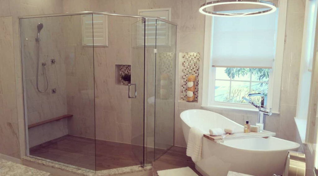 custom shower enclosure - lemon bay glass - englewood