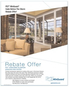 PGT 2012_Calm Before The Storm Rebate Flyer