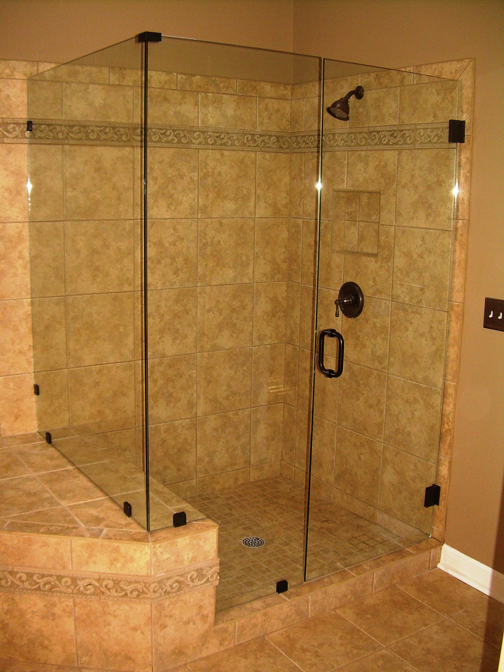 Shower enclosures by lbg lemonbay glass mirror Tile shower stalls