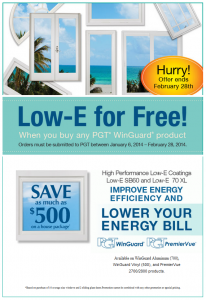 Low-E for Free when you Purchase Windguard Product