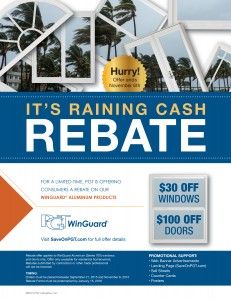 PGT dealer_2015 Rebate_Winguard flyer - Lemon Bay