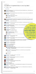What Clients are Saying about Lemon Bay Glass