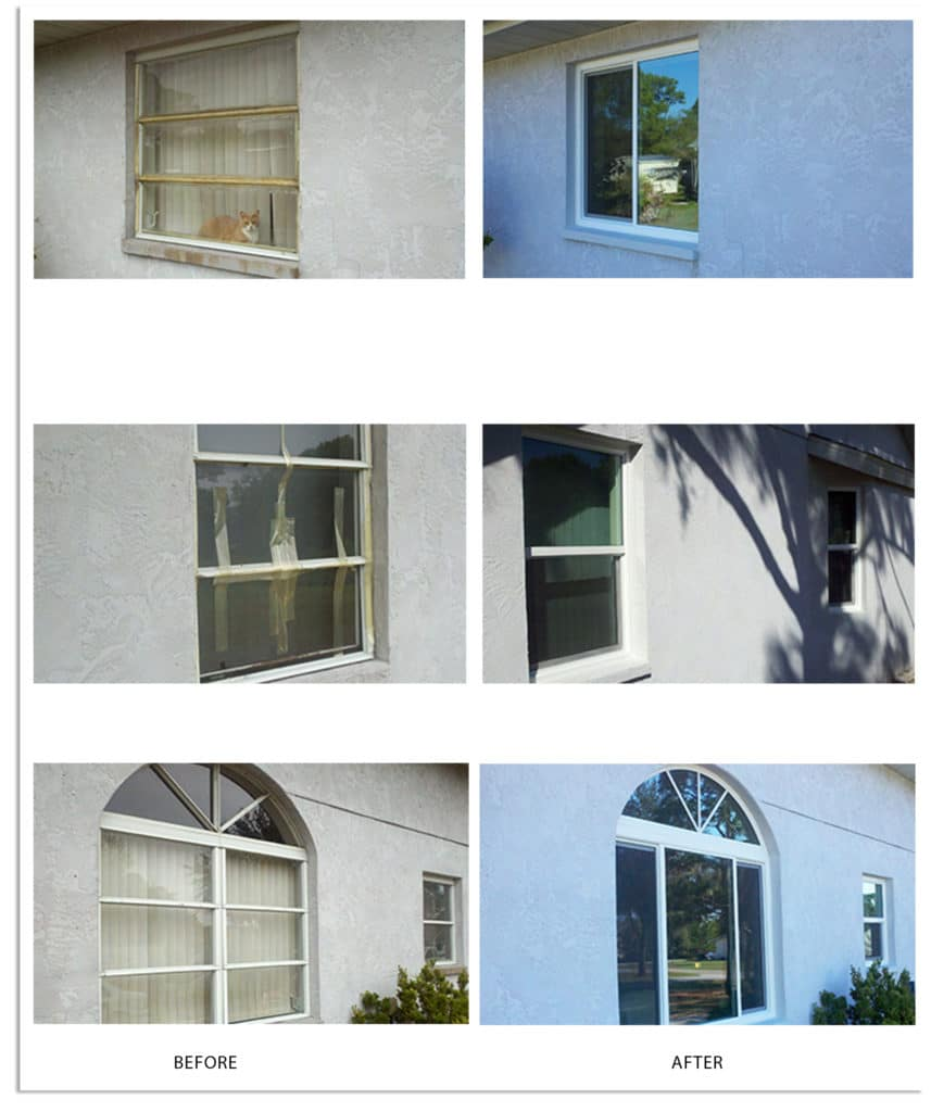 Replacement Windows_Before and After_Lemon Bay Glass