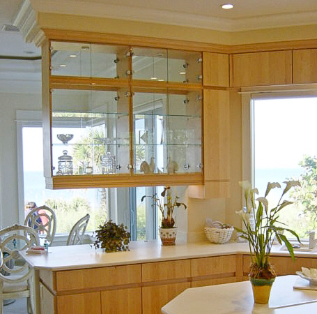 Lemon Bay Glass_Red_Jay_Cabinets_Glass Cabinet Fronts