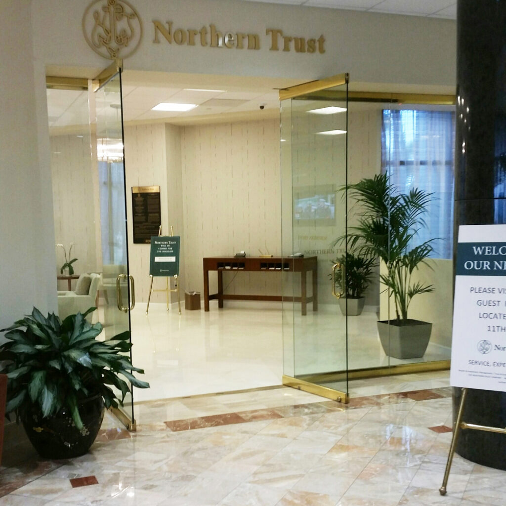Northern Trust Storefront-Lemon Bay Glass Mirror-Storefront meeting the need