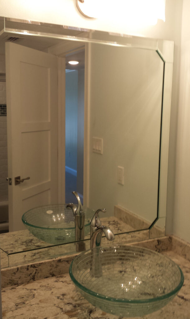 Lemon Bay Glass_Custom Beveled Mirror
