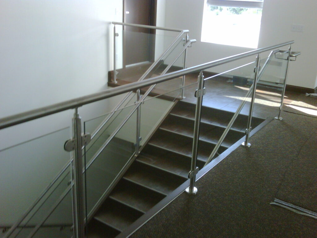 Lemon Bay Glass_Glass & Stainless railing interior