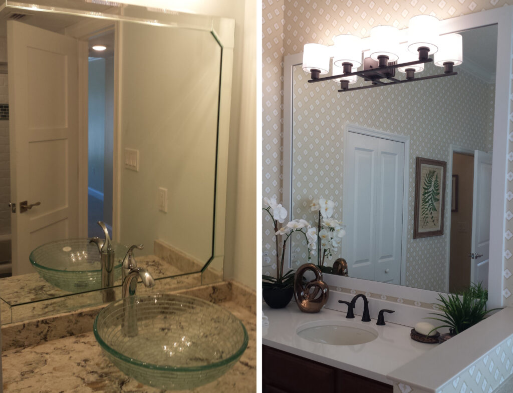 Beveled Mirror and Framed Mirror_Lemon Bay Glass